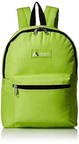 Everest Luggage Basic Backpack, Lime, Medium