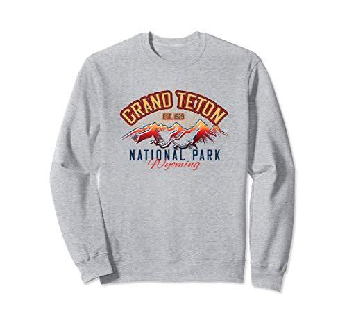 Grand Teton National Park WY Wyoming Retro Souvenir Sudadera