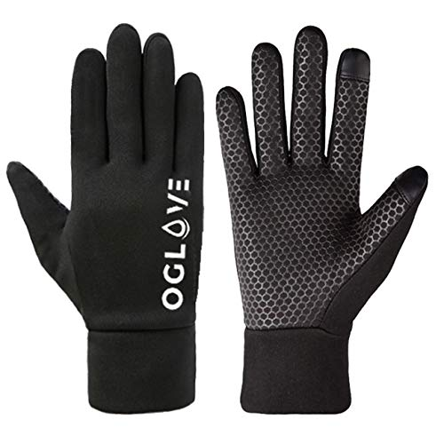 OGLOVE Waterproof Thermal Sports Gloves for Kids, Touchscreen Sensitive Field Gloves for Football, Soccer, Rugby, Mountain Biking, Cycling, Running, Lacrosse and More