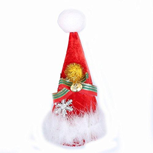 GEXING Natale Cappello Di Natale Accessori Costume Cappello Del Partito Di Ballo Piccola Discoteca Un Pacchetto Di 2
