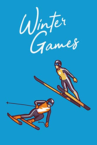 Wintersport Notizbuch Liniert: A5 120 Seiten für Skifahrer Snowboarder Wintersportler und Schneeliebhaber als Planer Logbuch und Erlebnissbuch