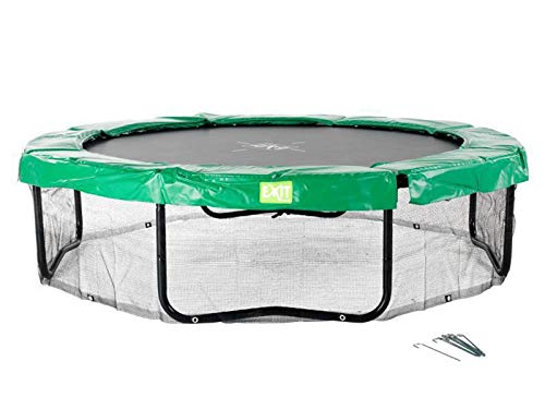 EXIT Rahmennetz 10x14ft / passendes Rahmennetz - Zubehör für die ovalen EXIT Trampoline 305 x 427 cm schwarz / Lieferung OHNE Trampolin!