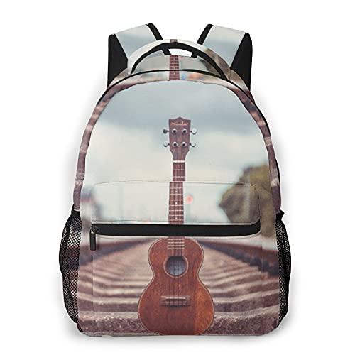 Judascepeda Mochila de ocio múltiple,Música Guitarra eléctrica en ferrocarril, Mochila deportiva de...