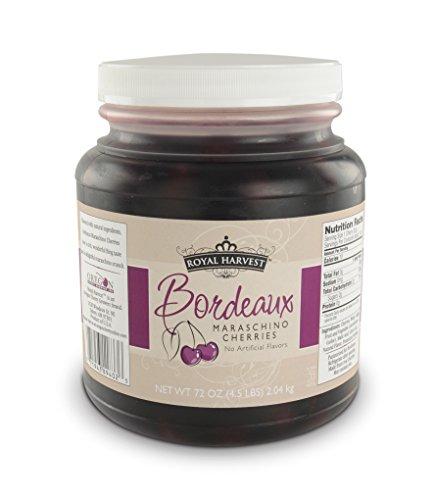 Royal Harvest Bordeaux Maraschino Cherries With Stems, 72 Ounce