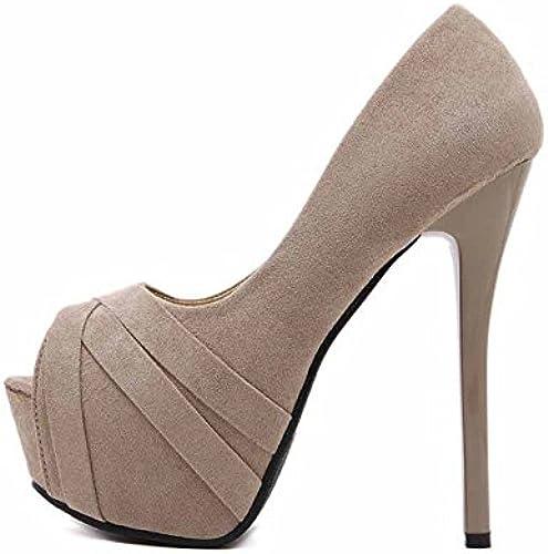 GTVERNH-14Cm Super Tacones zapatos De Tacon Fino Impermeabilizacion De Noche Tienda De zapatos