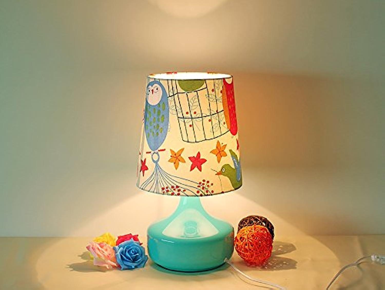 Creative Light- Nordeuropa moderne Lampe pastoralen Glas Schlafzimmer Nacht Kinderzimmer Cartoons Schlafzimmer Tisch (Farbe    1)