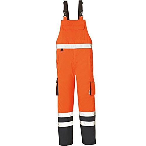 4Protect 20-003481-XL 4 Protect Warnschutz Latzhose CHICAGO 3481 Wetterschutzhose XL, orange/blau