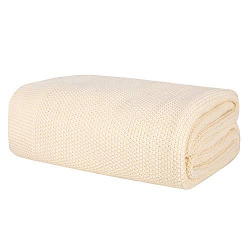 ComfortAce Manta (100 x 150 cm, 100% algodón), color crema