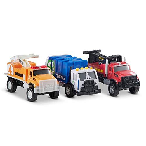 Tonka Funrise Toy Mini 3 Pack: Cherry Picker, Tow Truck, Garbage Truck