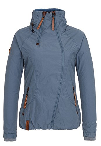 Naketano Damen Forrester IV Jacke, Blau (Bluegrey 075), 36 (Herstellergröße: S)