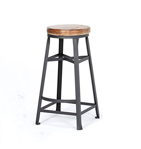 Tabourets de bar ronds Bar Cuisine Tabouret de petit déjeuner Chaise de salle à manger Bois/PU Chaise de bar Tabouret haut Chaise de comptoir pour la famille et les affaires (Couleur : A)