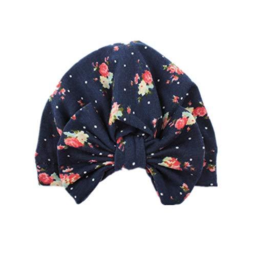 VIccoo baby muts, schattige meisjes jongens baby kind bowknot hoed rekbaar turban nonchalante hoed haar hoofd wikkelmuts baby-accessoires - D