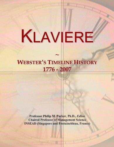 Klaviere: Webster's Timeline History, 1776 - 2007