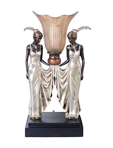 Tischleuchte pur im Art Deco Stil Tischlampe Femme Fatale IS042 Palazzo Exklusiv