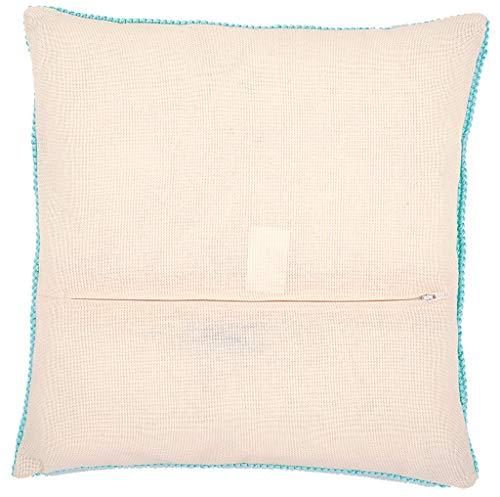 Vervaco Kissenrücken mit Reissverschluss, Baumwolle, Beige, 45.0 x 45.0 x 0,3 cm