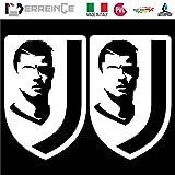 erreinge PRE-Spaced Sticker WEIß 25cm - Cristiano Ronaldo Juventus - Aufkleber Decal Vinyl Wandgemälde Laptop Auto Motorrad Helm Wohnmobil