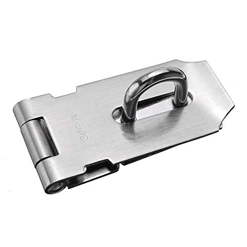 ZBXCVZH Theft Door Lock Stainless Steel Gate Hasp Staple Padlock Clasp Shed Latch Hardware Tools Hasps (Color : 4 Inch)