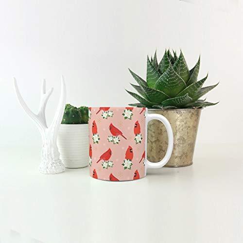 O5KFD & 8 11 OZ Rode Spatz water Koffiebeker met handvat Hoogwaardige keramiek grappige beker – rode vogel vakantie Kerstmis, familie gebruiken