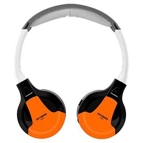 XO Vision Universal IR in Car Entertainment Wireless Foldable Headphones, Orange