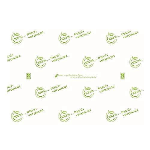 Bio Frischhaltepapier Metzgerpapier Einschlagpapier Frischpack Alternative 55g/m² fettdicht