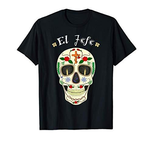 Yo Soy El Jefe Dia De los Muertos Calavera de Azúcar Regalos Camiseta