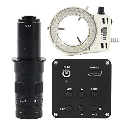 Yhtech 1080P 4K UHD 8MP CMOS Digital Digital Digital Industrial C Cámara de microscopio de Video para reparación de teléfonos Derechos de enseñanza (Color : Red)