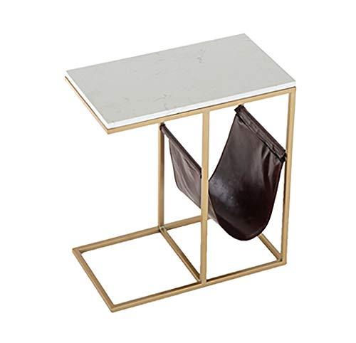 YWXCJ Tables Basses Table Basse en marbre Simple Moderne carré créatif canapé Table Basse Table de lit (Couleur : Or, MODÈLE : B)