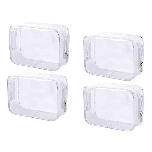 4 Stukken Doorzichtige Toilettas, Pvc Waterdichte Cosmetische Tas, Transparante Cosmetische Reistas, Geschikt voor Reizen, Zakenreizen, Kamperen en Buitenactiviteiten, Etc