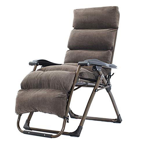 Opklapbare fauteuils met kussen, 4 seizoenen Heavy Duty Zero Gravity Chair Lounge Ligstoelen Verstelbaar opklapbaar Draagbaar kantoor Patio Beach zwembad Sportkant Overdekte camping Gray Collapsi