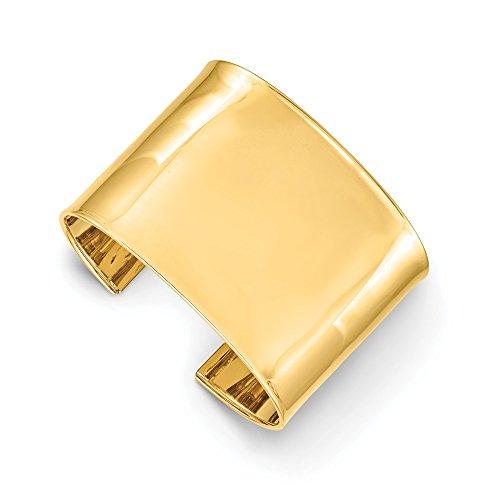Pulsera de oro amarillo macizo de 14 quilates para mujer de 47 mm