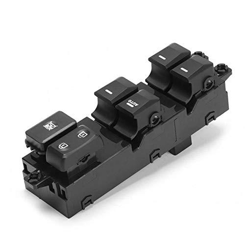 QWSNED Interruptor de Ventana, Interruptor de Ventana de plástico Duradero, botón de Control del Interruptor Principal Principal de la Ventana eléctrica, para Kia Picanto 2012-2015