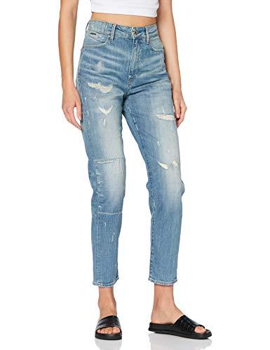 G-STAR RAW Damen Jeans Janeh Ultra High Mom Ankle Wmn, Sun Faded Prussian Blue Restored B767-B478, 28W / 32L