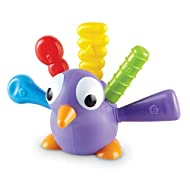 Learning Resources Pedro the Fine Motor Peacock, Montessori Toys, Fine Motor, Color Recognition, Toddler Developmental Toys, Ages 18 mos+