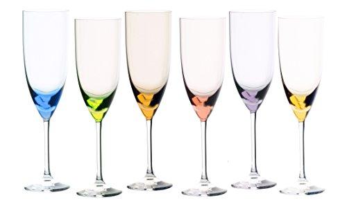 Sèvres de Cristal Turckeim-Coffret Cadeau de 6 Verres à Flûte Champagne