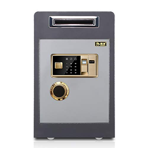 JION Fingerabdrucksicherer, sicherer elektronischer Schließkasten, Safe mit mechanischer Diebstahlsicherung, Münzfach aus Stahllegierung, 12,9'* 14,9' * 23,6'