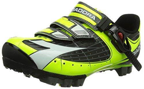 Diadora X TORNADO - Zapatillas de ciclismo de material sintético para mujer, color amarillo, talla 45