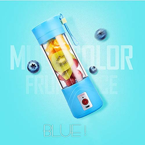 HUBINGRONG USB Exprimidor de Frutas Copa de Mezcla máquina portátil Tamaño Personal Botella de 380 ml de Eletric Recargable Mezclador Blender Agua (Color : ZC758303) Zk1623401