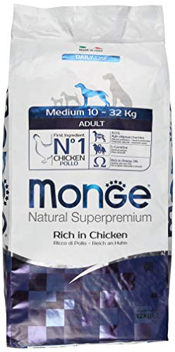 MONGE NATURAL SUPERPREMIUM Dog Medium Huhn Hundefutter