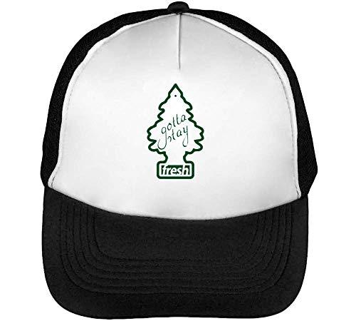 Gotta Stay Fresh Funny Little Tree Car Freshener Trucker Cap Heren Dames Zwart Wit Snapback