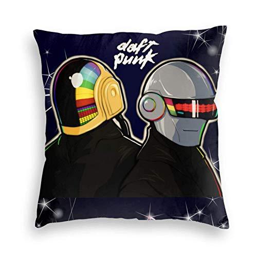 shenguang Child Daft Punk Cosplay Quadratisches Kissen für Schlafzimmer Auto Sofa Home Decor 16 'X16'