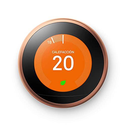 Google Nest Learning Thermostat Cobre,...