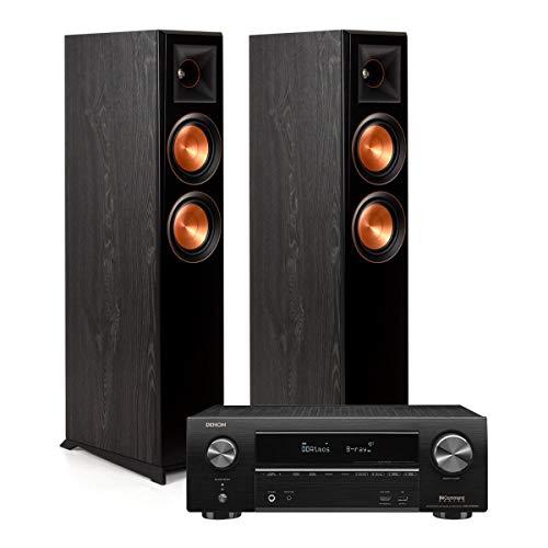 Review Klipsch RP-5000F Floor Standing Speakers (Ebony) with Denon AVR-X1600H 7.2 Channel AV Receive...