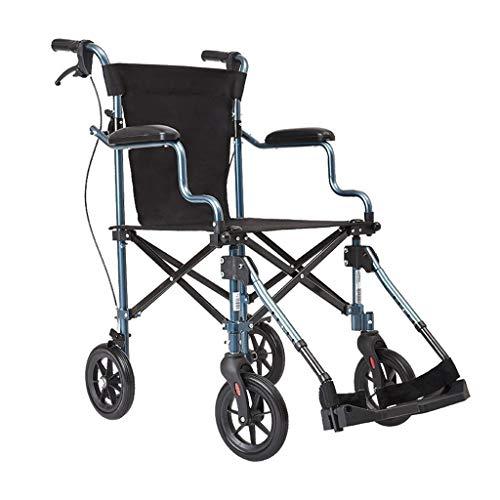 Rollstühle mit Selbstantrieb Rollstuhl Zusammenklappbarer Rollstuhl Tragbarer Reiserollstuhl Rollstuhl Mit Behinderung Für Alte Menschen Multifunktionswagen Tragkraft 100 Kg
