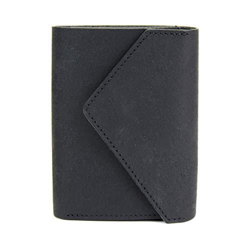 [リティスタ]コインウォレット3コインクリップ付き極小財布ミニ財布三つ折り財布日本製本革プエブロLITSTACoinWallet3BLACK