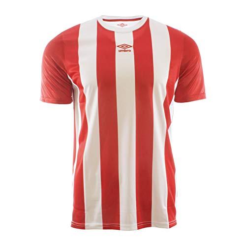 UMBRO Brave Jersey Camiseta De Fútbol, Hombre, Rojo y Blanco, L