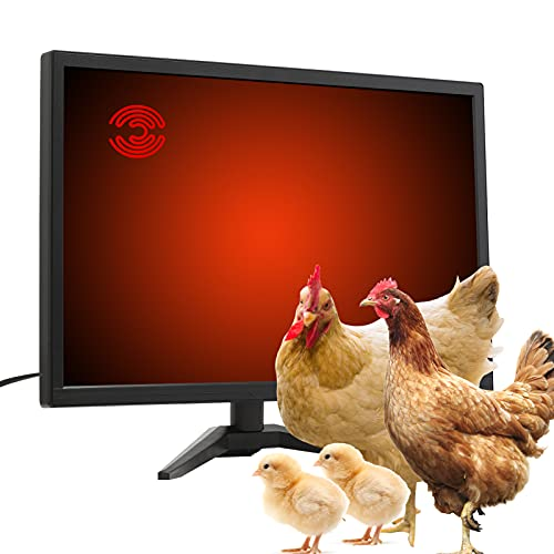 RUITN Chicken Coop Heater, Radiant Heat Chicken Heater for Coop, 60 Watts Energy Efficient Safer Than Brooder Lamps Heater for Chicken coop