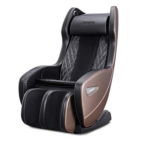 Naipo Massagesessel ergonomischer Massagestuhl mit verschiedenen Massageprogrammen, Liegeposition Verfügbar, platzsparender Massagesessel für Zuhause und im Büro, Modell MGC-1900