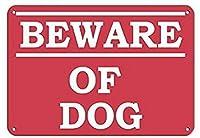 屋外用のパーソナライズされた金属製の看板犬のペットの動物の看板に注意してください錫の金属製の看板8X12インチ