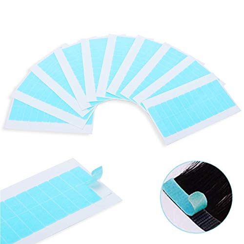 120 Stücke Haarverlängerung Ersatztapes - Klebestreifen Für Tape In Hair Extensions Hohe Klebekraft Klebedauer Haar Klebeband Für Haarverlängerungen (Blau)
