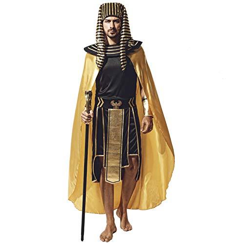 TerriTrophy Halloween Costumes for MenEgyptian Pharaoh Costume, Men's King of Egypt Costumes